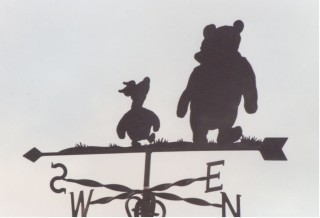 Winnie and Piglet weather vane