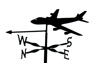 Boeing 747 weathervane