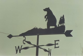 Bear weather vane