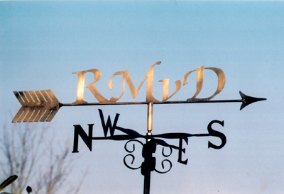 Brass Letters weather vane