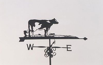 single friesian cow weathervane