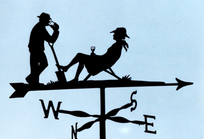 Drinking in the Garden weathervane