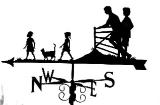 Family with Gate weathervane