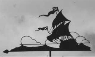 Galleon weather vane