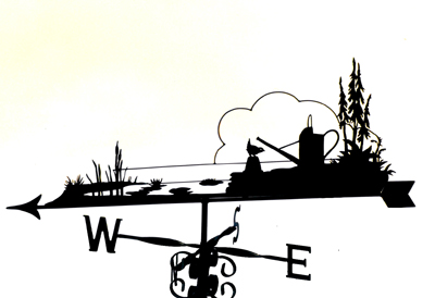 Garden Pond scene weathervane