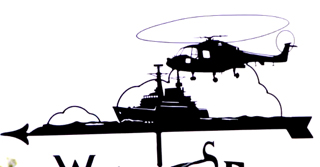 Lynx with Frigate weathervane