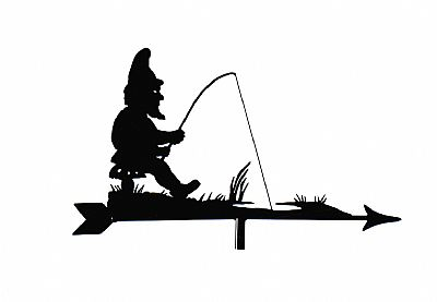 Gnome Fishing weathervane