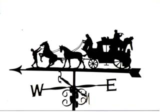 Horse and Carriage A weather vane