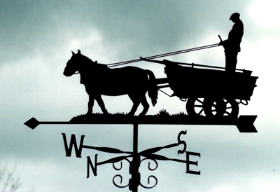 Horse and Cart weather vane