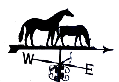 Mare and Foal weather vane