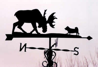 Moose and Hound weathervane