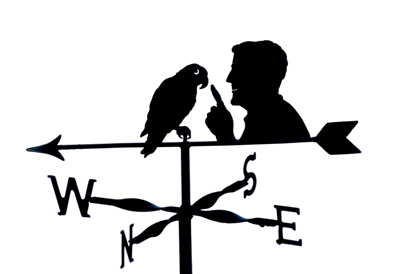 Paul and Parrot weathervane