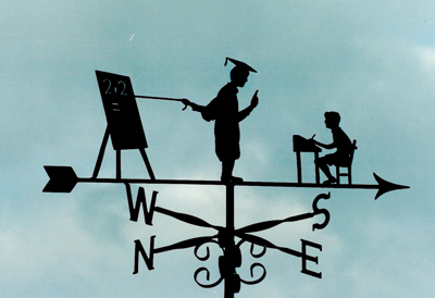Teaching Pupil weathervane