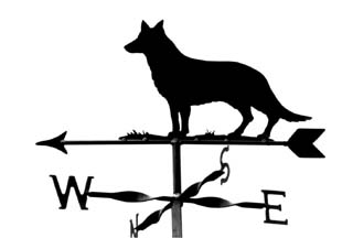 Alsatian weather vane