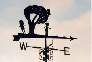 Childrens own design weathervane