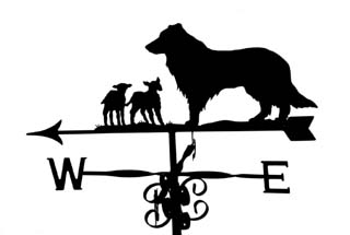 Collie with lambs weathervane