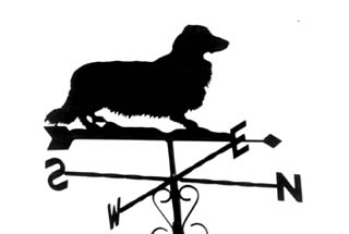 Dachshund Long-haired weathervane