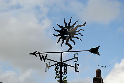 Dancing Sun weathervane