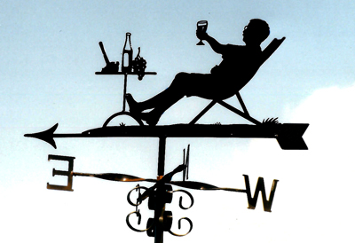 Drinking Wine weathervane