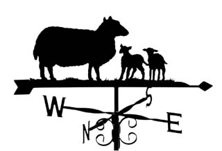 Ewe with lambs weathervane