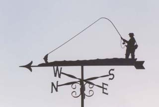 Fisherman Metal Weathervane