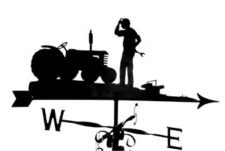 Fixing tractor weather vane