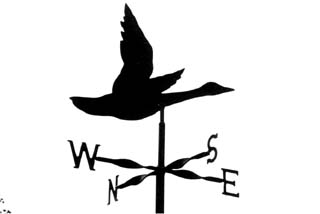 Flying goose weather vane