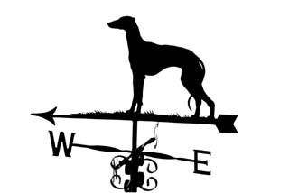 Greyhound weather vane