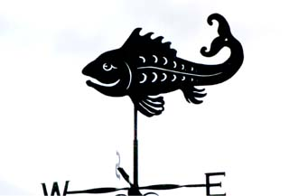 Happy Fish weather vane