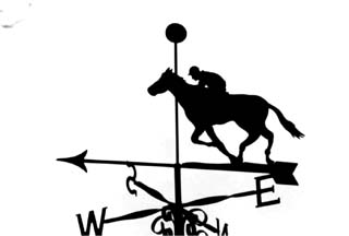 Horse past post Weathervanes, Wind Vanes, Weathercock ...
