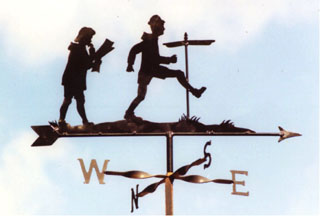 Lady Man and signpost weather vane