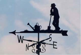 Man Gardener weathervane