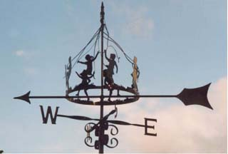 Maypole Children weathervane