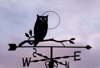 Owl on Branch weathervane
