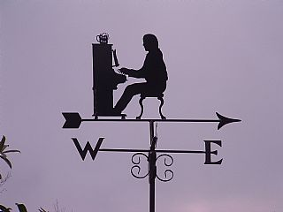 pianist weather vane