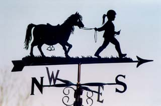 Pony and Girl weather vane