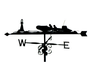 Rescue Boat weather vane