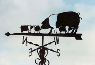 Saddleback Family weathervane