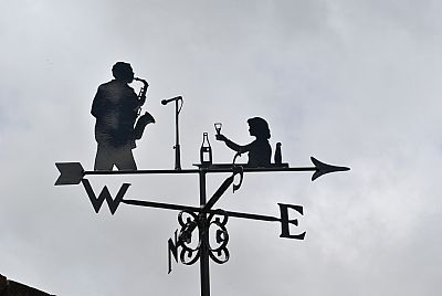 Lady and Sax weathervane