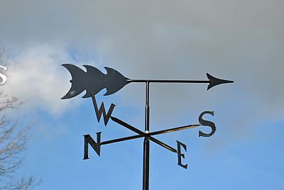 Arrow p and s weathervane