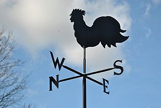Cockerel p and s weathervane