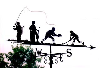 Sporty Family weather vane