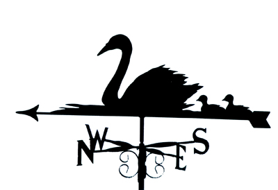 Swans and Cygnets weather vane