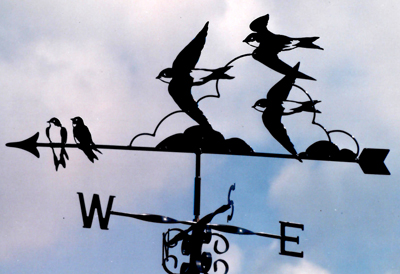 House martins weather vane