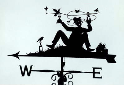 Too much wine! weathervane