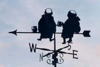 Two Monks weather vane
