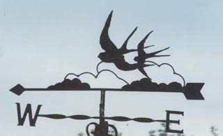 Two Swallows weather vane
