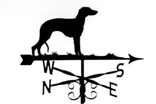 Whippet weather vane