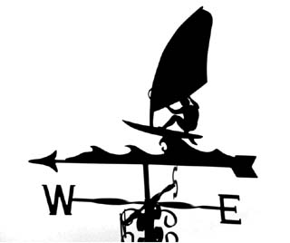 Windsurfer A weather vane