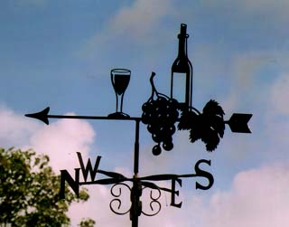 wine and grapes weather vane